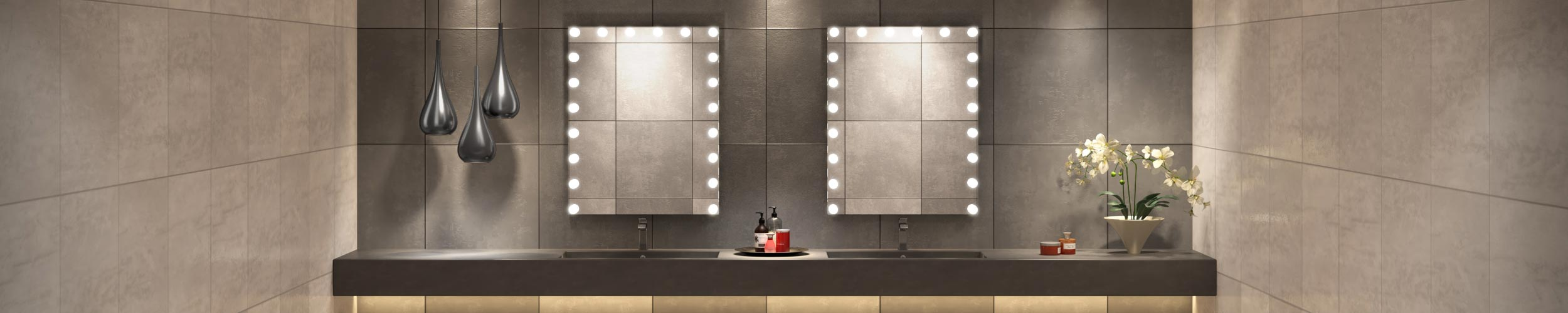 Double Sink Hollywood Vanity Mirror by Grand Mirrors