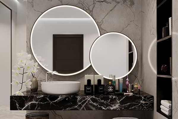 Create a wall of mirrors